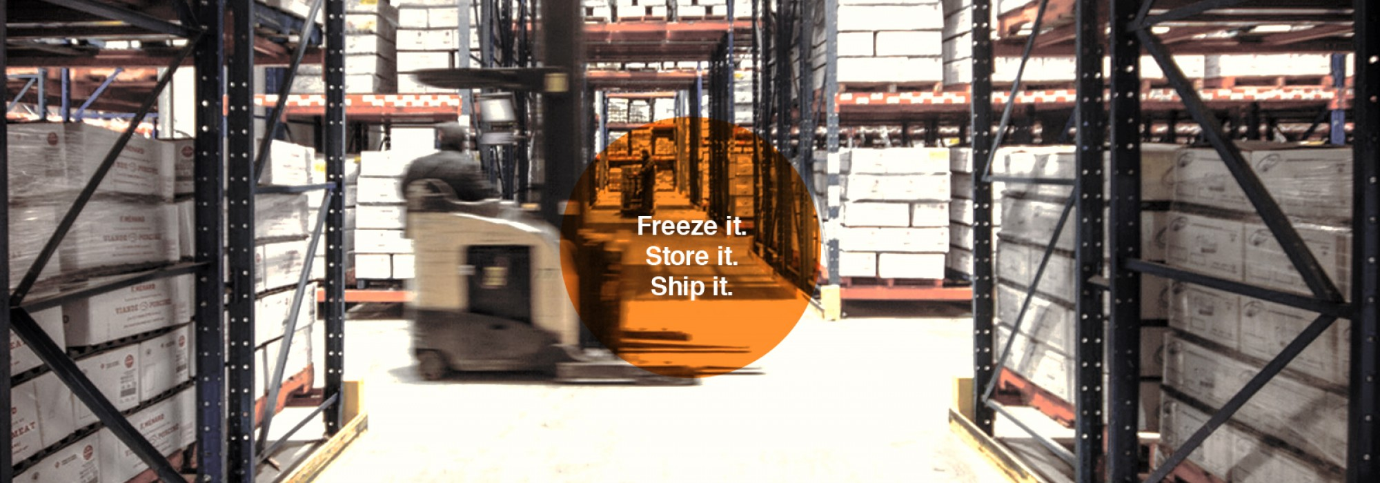 Freeze it. Store it. Ship it.
